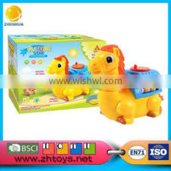 Electtric carton horse with versatile wheels with music