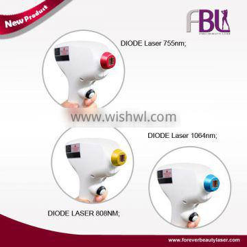 Big promotion 755nm/808nm/1064nm diode laser 3 in 1 hair removal beauty machine with CE