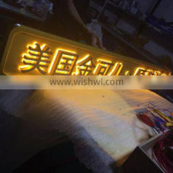 Stainless steel backlit letter lighted signs for shop and store