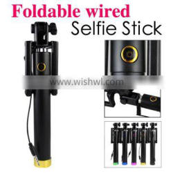 Dispho Locust Pocket Selfie Stick Extendable Wired Selfie Stick Portable Selftimer Handheld Monopod