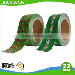 patterned colored embossed aluminium foil Rolls for chocolate packaging Paper