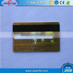 3 track magnetic stripe signatual card with TK4100 loyalty PVC Card