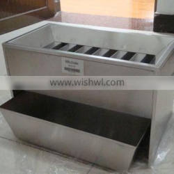 stainless steel riffle sample divider for laboratory