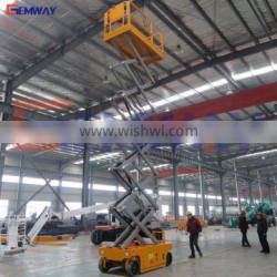 Most popular electric battery operated self propelled scissor lift for sale