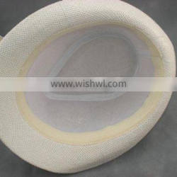 Factory High quality promotional cheap paper straw fedora hat