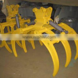 Customized PC210LC-8M0 Excavator Log Grapple,PC210LC-8M0 Wearable Log Fork for sale
