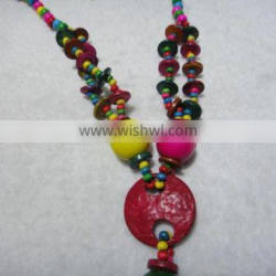 China hand- crafts Hainan province traditional special fashion jewelry cocoa nut husk wholesale coconut shell crafts necklace