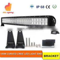 """factory wholesale slim waterproof curved 32"""" 180w 4x4 offroad 12 volt car led light bar"""