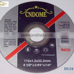 115mm super thin Cutting disc for stainless steel