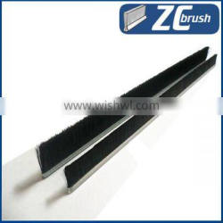 Metal channel nylon sweeping brushes