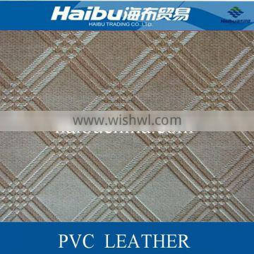 PVC leather stocklot for wall deocorative