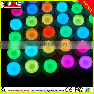 Rechargeable RGB glowing LED light base for LED furniture lighting