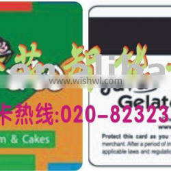 Magnetic strip card