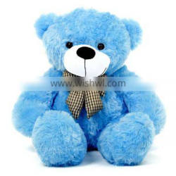 2 Meter Large Plush Blue Color Teddy Bear With Bowknot LOW MOQ Cute Stuffed Soft Toy Plush Teddy Bear Giant