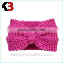 2016 Fall and winter fine quality knitting bowknot women red knit headband supplier
