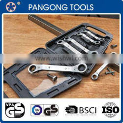 Flat / Offset Angled Metric Two Way Ratchet Ring Spanner Set