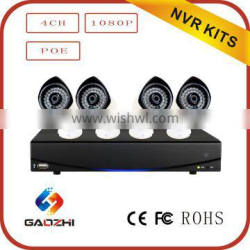 Hot sale 1080p POE 4CH home camera security system