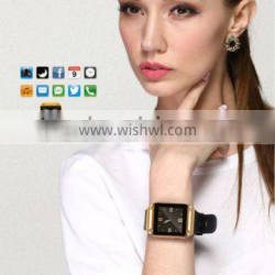 PW305 Smart watch fanshion lady watch 1week standyby Sync w/ Phone Call/Massage/Phonebook/Social/Weather Music/Cam. Control/