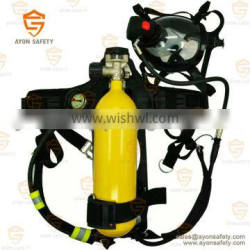 EN137fire fighter Industrial self contained breathing apparatus SCBA 6L steel cylinder - Ayonsafety