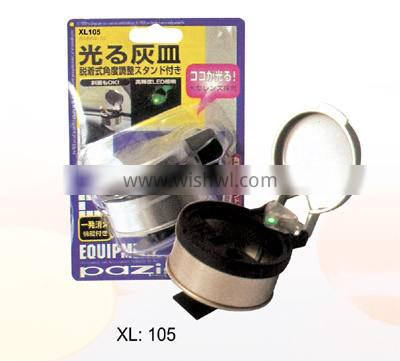 Automobile ashtray with light