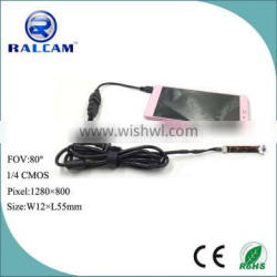 80 degree field of view 1280*800 pixels android endoscope camera module