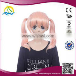 2014 New arrival japanese long pink cosplay wig