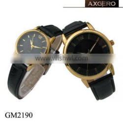 Alibaba hot selling round face chinese quartz couple watch