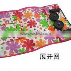 New style recycled folding shopping trolley bag with wheels