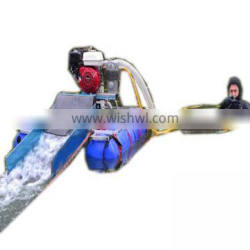 Mini gold dredging adn sand pumping with Honda engine for gold suction and separating