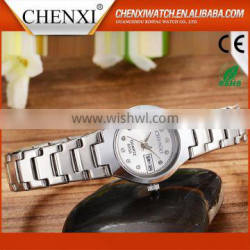 Wholesale Gift Items CE RoHS Day/Date Couple Lover Wrist Watch Water Resistant Cheap Couple Wrist Watch