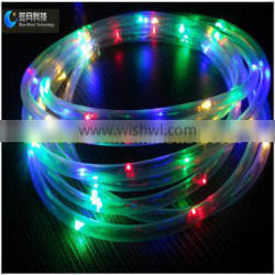 China christmas light RGBY solar led round tube clear pvc material UL decoration light