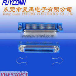57 Series Female Right Angle PCB Mount Centronics DDK Connector 40 type Receptacle with Bail Lock