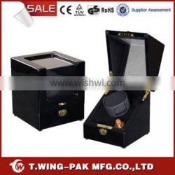 Metal accessories, material leather and wood, single watch winder for sale