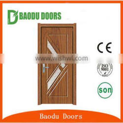 Romania designs fancy wood door design interior pvc mdf wood door
