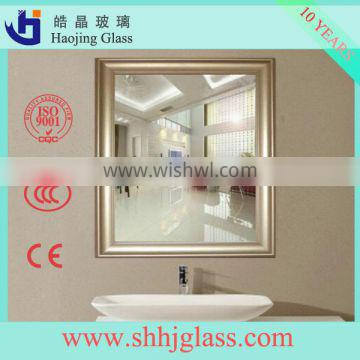 HAOJING factory price 4mm acid mirror with fine polishing edges