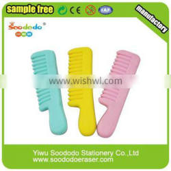 Funny Comb Shaped rubber erasers for children gifts toy