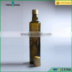 500ML antique green round cooking oil glass bottle with cap