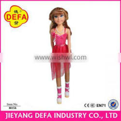Plastic vinyl barbiee dolls with high quality for wholesale