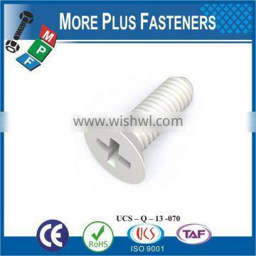 Made in taiwan high quality phillips flat head screw for nylong screw for plastic