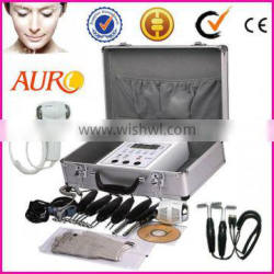 AU-2011 face massage tool microcurrent electrical stimulation face lift machine with magic gloves