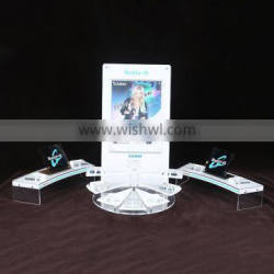 Christmas promotion makeup display stand, acrylic cosmetic display Supplier's Choice