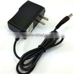 U.S. power adapter 6v 0.5a universal ac/dc adapter. 3' foot cord with 5.5mm x 2.1mm Tip