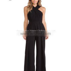 Gorgeous Sleeveless Black Women's Long Jumpsuit