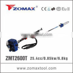 2014 ZMP2600T long reach telescopic pole saw for tree pruning tools