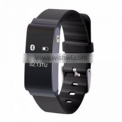 Health monitoring bracelet with heart rate+ temperature detecter and multiple wearing ways