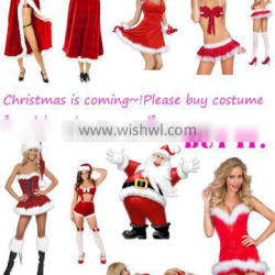 2015 China best selling sexy lady Christmas Costume