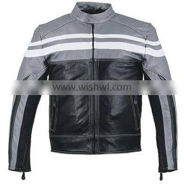 HMB-0412C LEATHER MOTORBIKE JACKETS MOTORCYCLE BIKER COATS