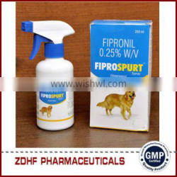 pet medicine Fipronil Spray 0.25% killing fleas ticks for dogs cats