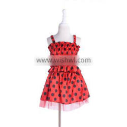 Children carnival costume carnival black dot party dress red princess dress