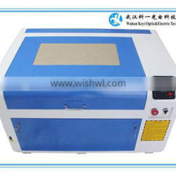 2016 high quality portable co2 acrylic crystal leather laser engraving machine color